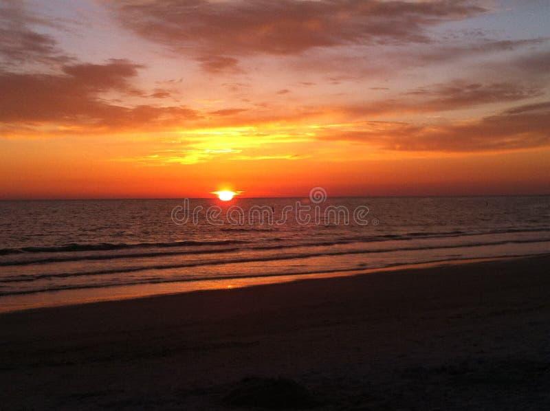 Παραλία Lido ηλιοβασιλέματος στοκ εικόνα