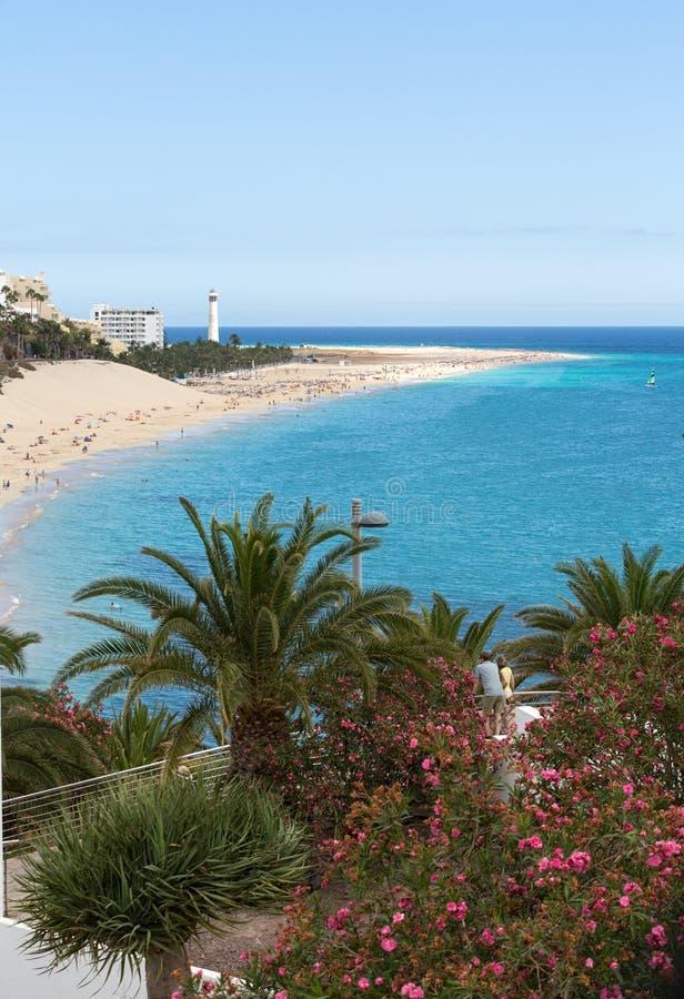 Παραλία Morro Jable, Κανάριο νησί Fuerteventura στοκ φωτογραφία