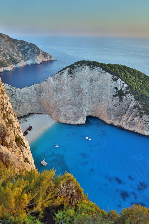 Παραλία Navagio, νησί της Ζάκυνθου, Ελλάδα στοκ εικόνες