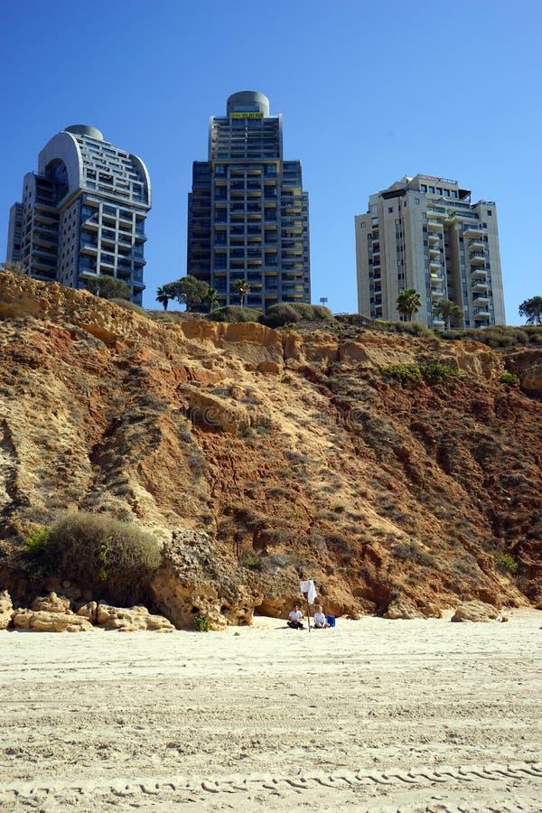 Παραλία Netanya στοκ φωτογραφία με δικαίωμα ελεύθερης χρήσης