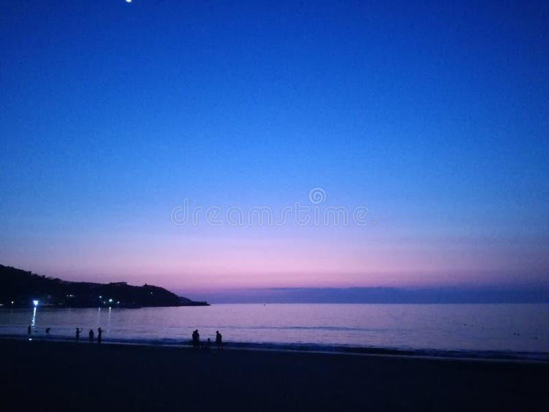 Παραλία Nightime στοκ εικόνες με δικαίωμα ελεύθερης χρήσης