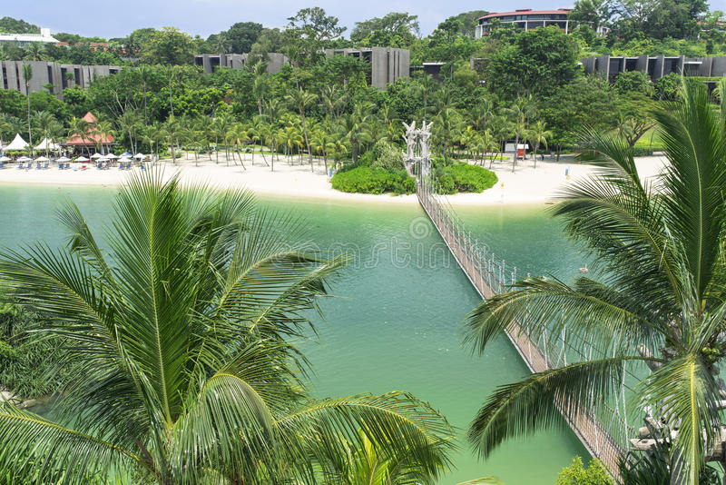 Παραλία Palawan Sentosa στοκ φωτογραφίες με δικαίωμα ελεύθερης χρήσης