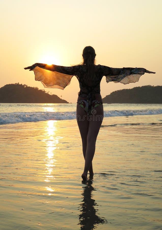 Παραλία Palolem Νότος Goa, Ινδία στοκ φωτογραφία με δικαίωμα ελεύθερης χρήσης
