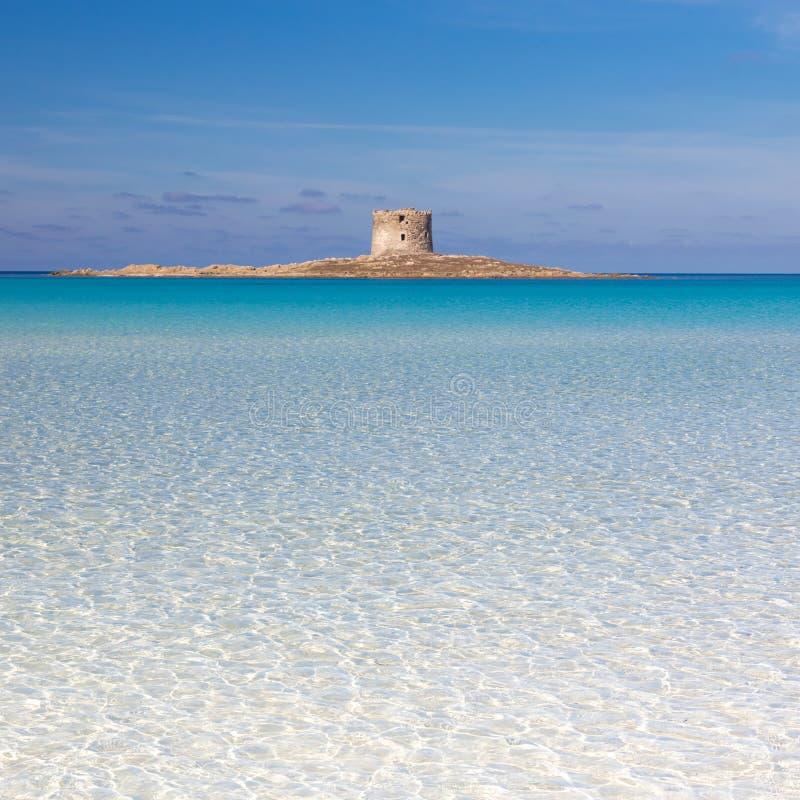Παραλία Pelosa, Σαρδηνία, Ιταλία στοκ φωτογραφία με δικαίωμα ελεύθερης χρήσης