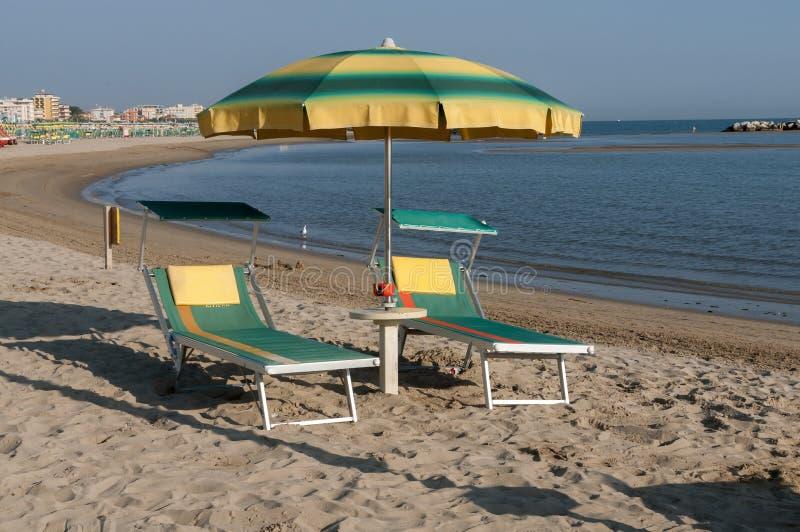 Παραλία Rimini, Ιταλία στοκ εικόνες με δικαίωμα ελεύθερης χρήσης