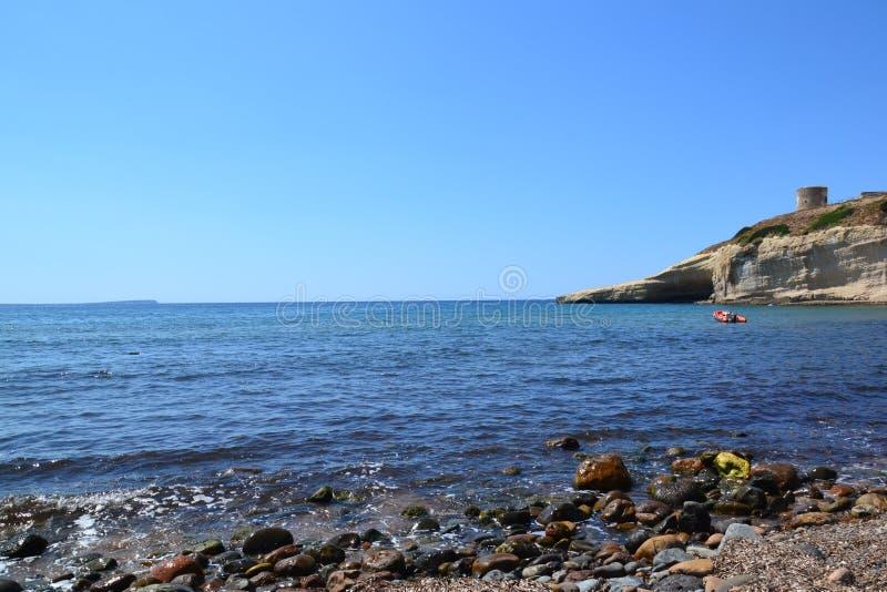 Παραλία Santa Caterina Di Pittinuri - Σαρδηνία, Ιταλία στοκ εικόνες
