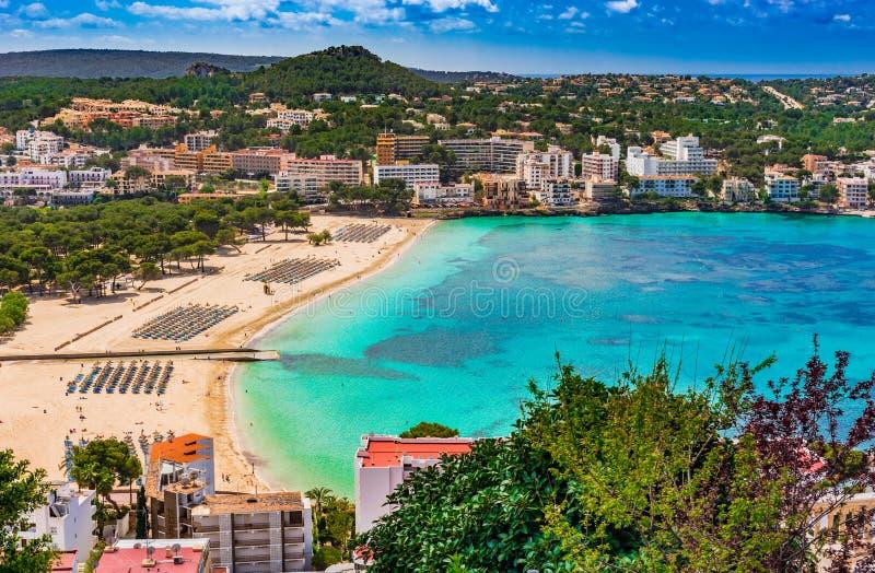Παραλία Santa Ponsa της Ισπανίας Majorca στοκ εικόνα