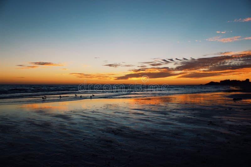 Παραλία sunsets στοκ φωτογραφίες με δικαίωμα ελεύθερης χρήσης
