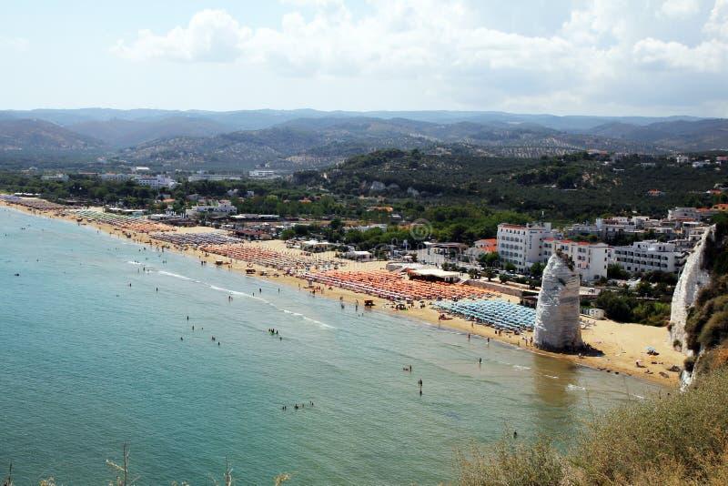 Παραλία Vieste στοκ εικόνες