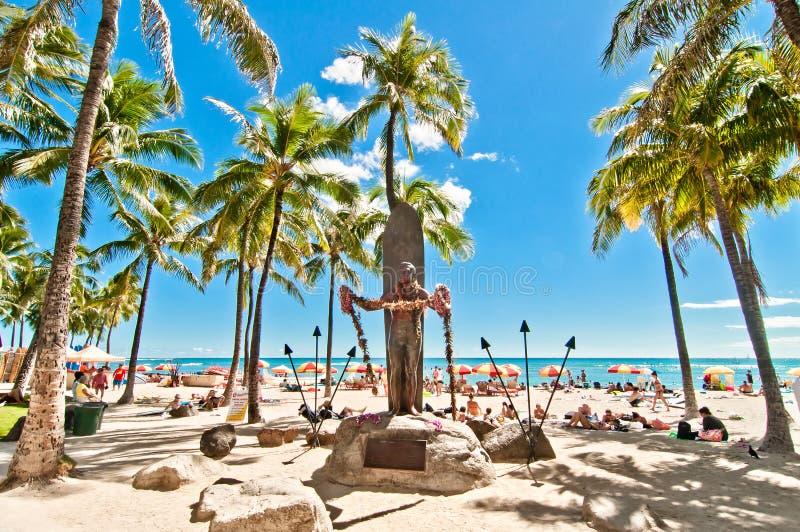 Παραλία Waikiki στη Χονολουλού, Χαβάη στοκ εικόνα