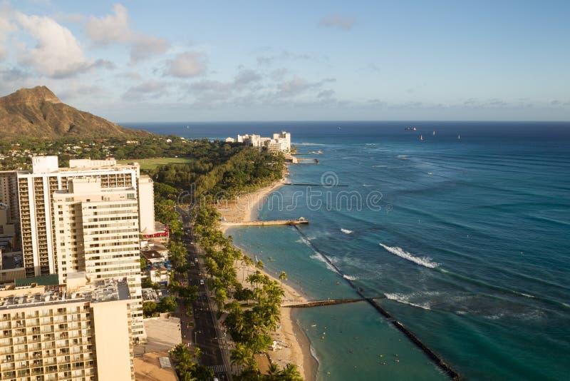 Παραλία Waikiki, Χονολουλού στοκ φωτογραφίες