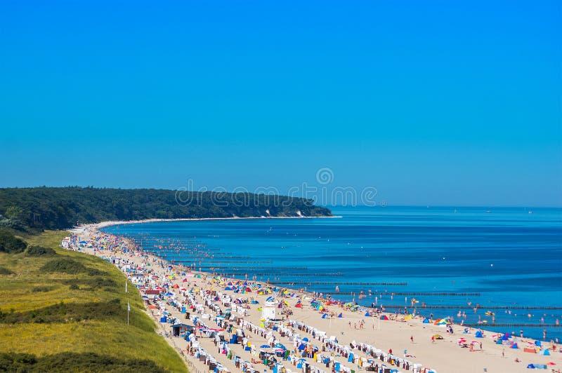 Παραλία Warnemünde Γερμανία της θάλασσας της Βαλτικής στοκ εικόνα με δικαίωμα ελεύθερης χρήσης