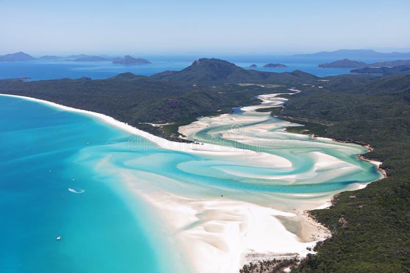 Παραλία Whitsundays Αυστραλία Whitehaven στοκ εικόνες