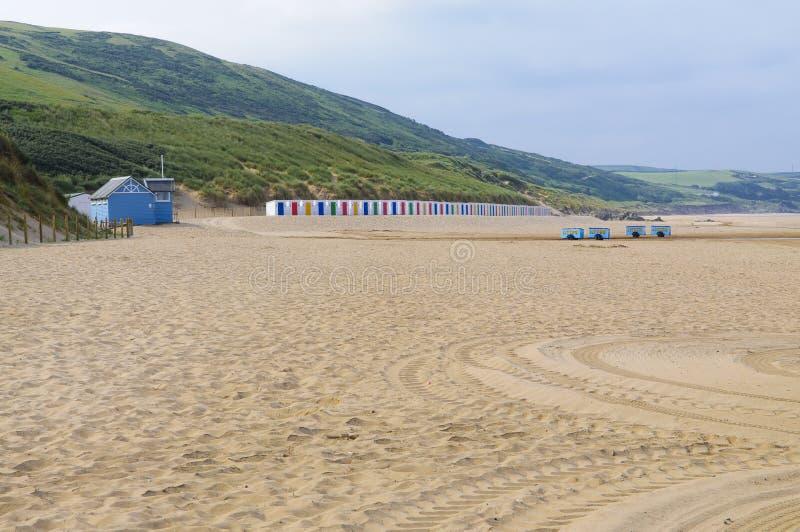 Παραλία Woolacombe το πρωί στοκ φωτογραφία