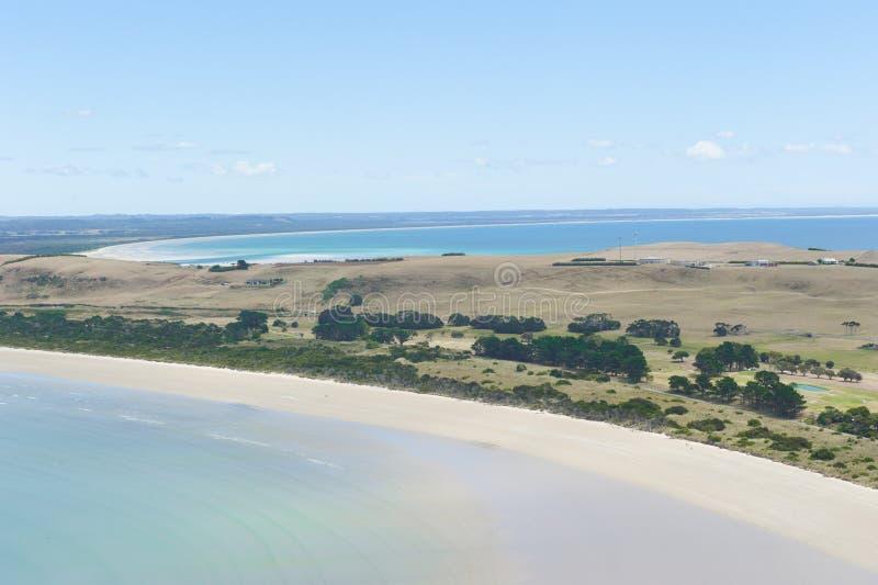 Παραλίες χερσονήσων της Τασμανίας Αυστραλία Stanely στοκ εικόνα με δικαίωμα ελεύθερης χρήσης