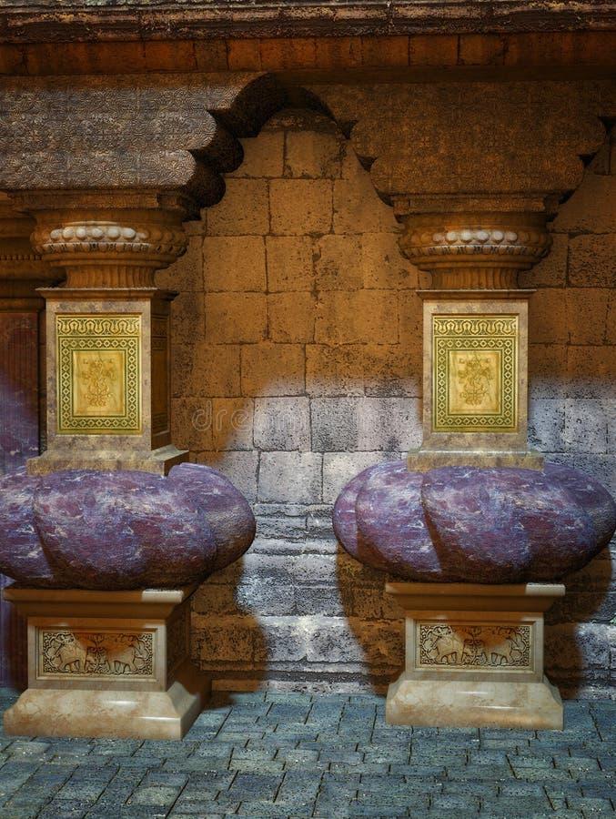 παραλλαγή ναών διάτρητων απεικόνισης φαντασίας πρώτη διανυσματική απεικόνιση