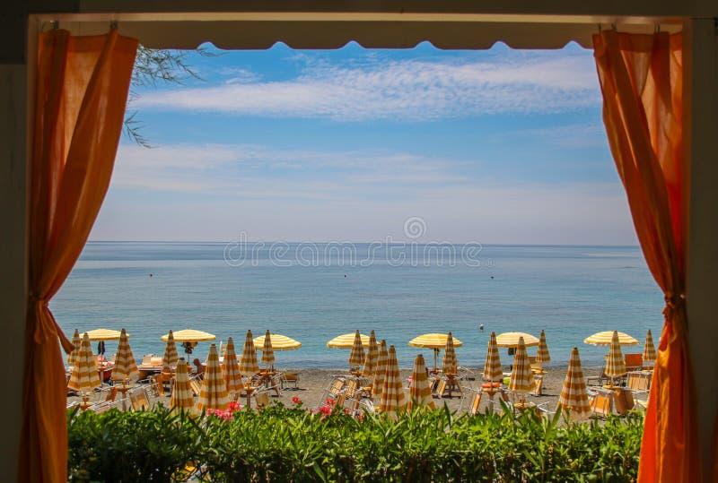 Παραδείσια παραλία Maratea, Βασιλικάτα, Ιταλία στοκ εικόνες