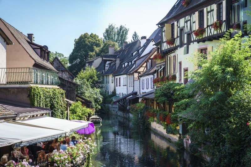 Παραδοσιακά γαλλικά σπίτια στη Colmar στοκ φωτογραφία με δικαίωμα ελεύθερης χρήσης