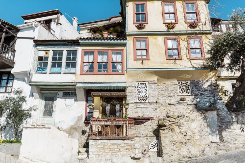 Παραδοσιακά ελληνικά σπίτια στην Καβάλα στοκ εικόνες με δικαίωμα ελεύθερης χρήσης