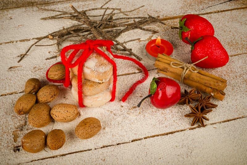 Παραδοσιακά ισπανικά Χριστούγεννα polvorones στοκ φωτογραφία με δικαίωμα ελεύθερης χρήσης