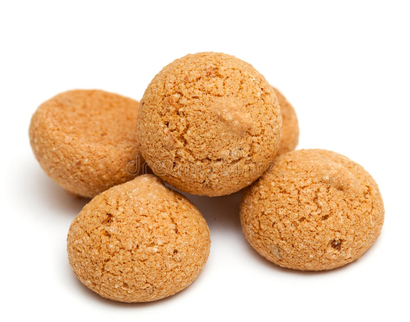Παραδοσιακά ιταλικά μπισκότα αμυγδάλων - amaretti στοκ φωτογραφία με δικαίωμα ελεύθερης χρήσης