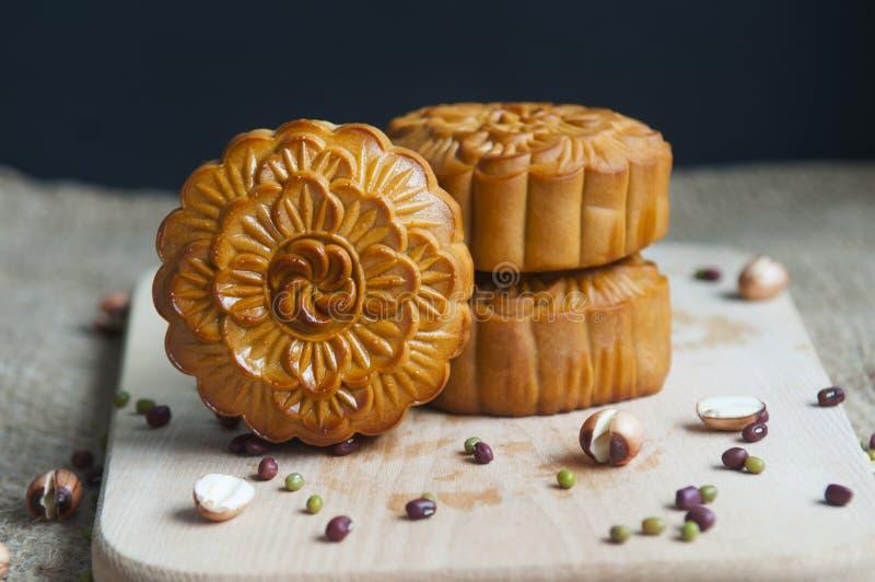 Παραδοσιακά κέικ φεγγαριών στοκ εικόνα