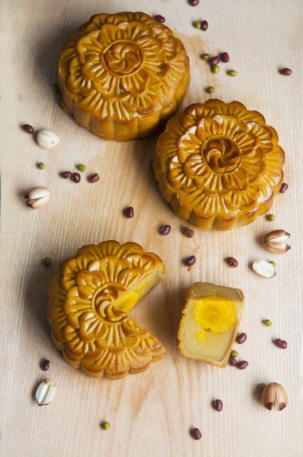 Παραδοσιακά κέικ φεγγαριών στοκ εικόνες με δικαίωμα ελεύθερης χρήσης