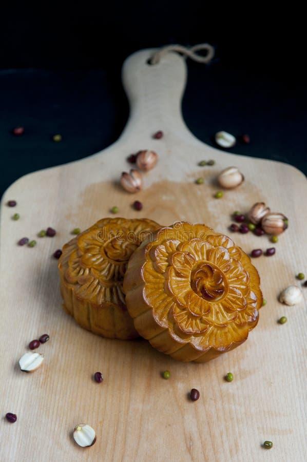 Παραδοσιακά κέικ φεγγαριών στοκ φωτογραφία με δικαίωμα ελεύθερης χρήσης