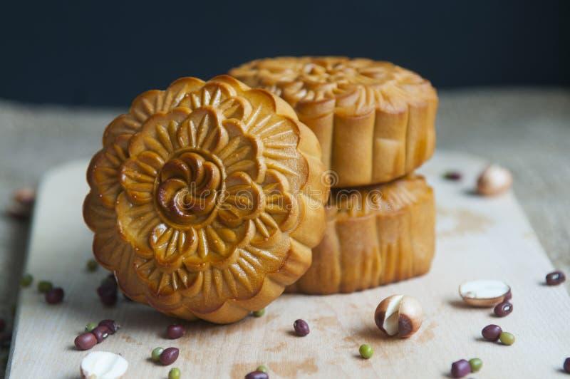 Παραδοσιακά κέικ φεγγαριών στοκ εικόνα με δικαίωμα ελεύθερης χρήσης