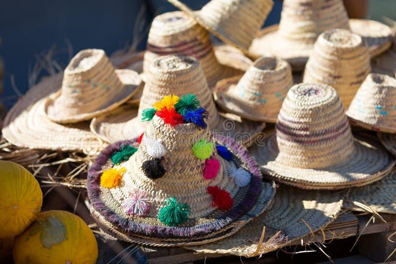 Παραδοσιακά καπέλα berber στοκ φωτογραφίες