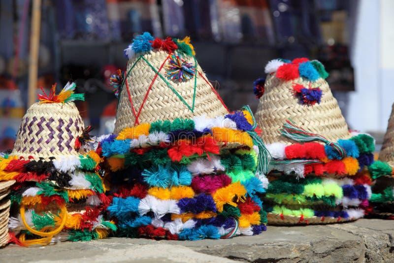Παραδοσιακά μαροκινά καπέλα στοκ φωτογραφίες με δικαίωμα ελεύθερης χρήσης