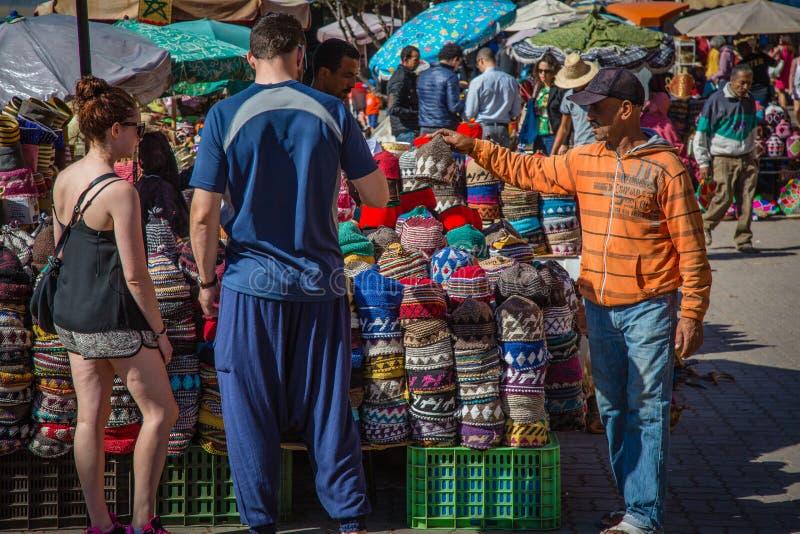 Παραδοσιακά μαροκινά καλύμματα στοκ εικόνα