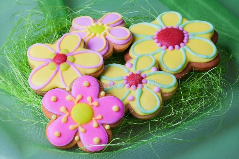 Παραδοσιακά μπισκότα μελοψωμάτων Πάσχας στοκ εικόνες με δικαίωμα ελεύθερης χρήσης