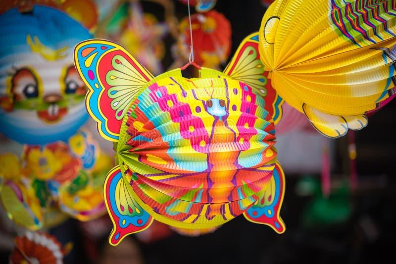 Παραδοσιακές διακοσμήσεις χρώματος στο φεστιβάλ μέσος-φθινοπώρου της Ασίας στοκ φωτογραφίες
