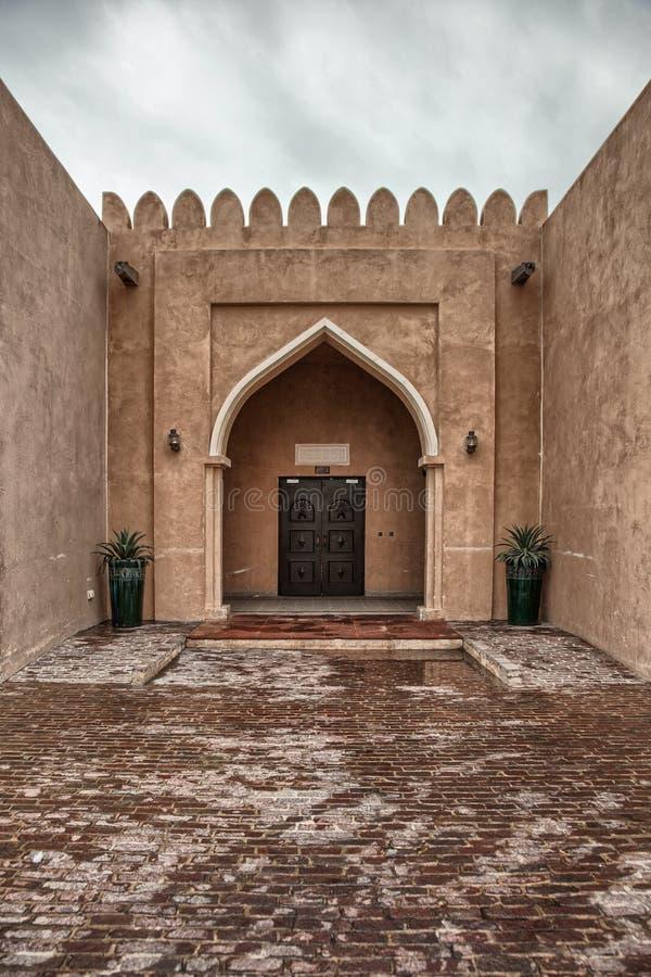 Παραδοσιακή αραβική πόρτα εισόδων σε Doha, Κατάρ στοκ εικόνες με δικαίωμα ελεύθερης χρήσης