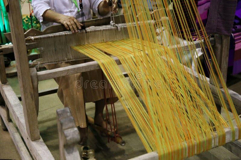 Παραδοσιακή λεπτομέρεια αργαλειών της Ασίας στοκ φωτογραφία με δικαίωμα ελεύθερης χρήσης