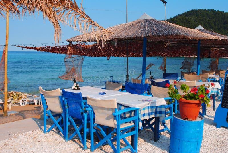 Παραδοσιακή ελληνική ταβέρνα στοκ φωτογραφία