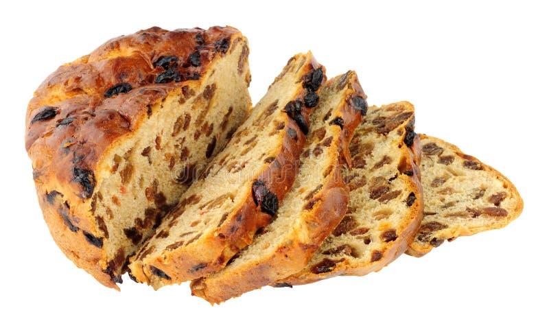 Παραδοσιακή ιρλανδική φραντζόλα ψωμιού Barmbrack γλυκιά στοκ φωτογραφία με δικαίωμα ελεύθερης χρήσης