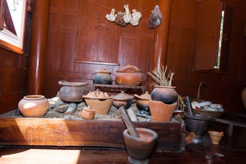 Παραδοσιακή κοινή ταϊλανδική κουζίνα στοκ εικόνες με δικαίωμα ελεύθερης χρήσης