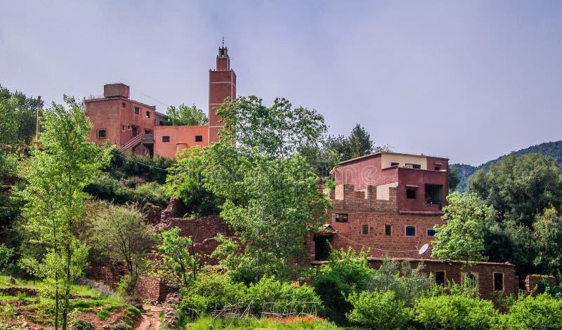 Παραδοσιακή μαροκινή κοιλάδα του χωριού Ourika στοκ φωτογραφίες με δικαίωμα ελεύθερης χρήσης
