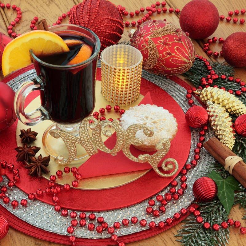Παραδοσιακή σκηνή Noel Χριστουγέννων στοκ φωτογραφίες