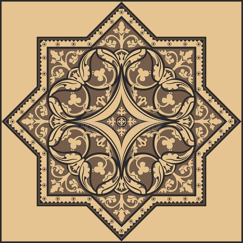 Παραδοσιακή floral διακόσμηση - σχέδιο απεικόνιση αποθεμάτων