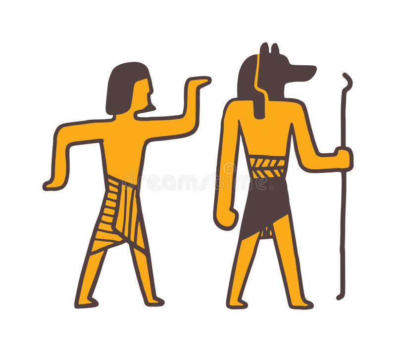 Παραδοσιακό διάνυσμα ανθρώπων της Αιγύπτου συμβόλων ελεύθερη απεικόνιση δικαιώματος