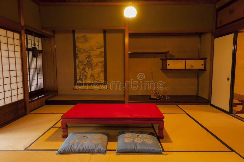 Παραδοσιακό ιαπωνικό δωμάτιο σπιτιών περιόδου edo στο Κιότο στοκ φωτογραφία με δικαίωμα ελεύθερης χρήσης