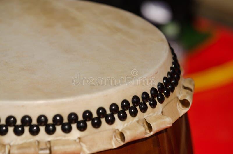 Παραδοσιακό ιαπωνικό όργανο Taiko κρούσης ή τύμπανο Wadaiko στοκ εικόνα