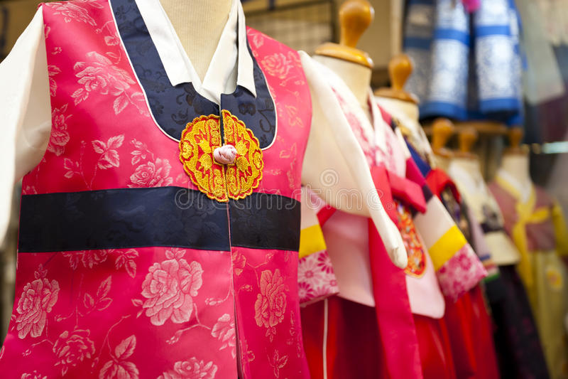 Παραδοσιακό κορεατικό φόρεμα στοκ φωτογραφία με δικαίωμα ελεύθερης χρήσης