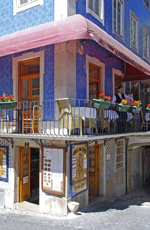 Παραδοσιακό πορτογαλικό εστιατόριο, Sintra, Πορτογαλία στοκ εικόνες με δικαίωμα ελεύθερης χρήσης