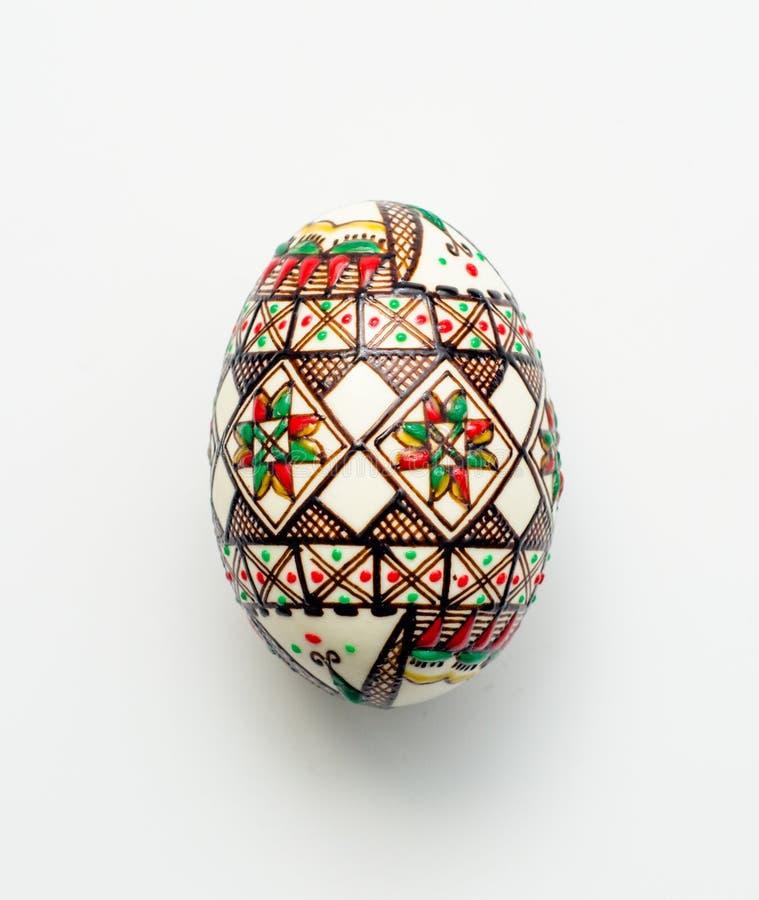Παραδοσιακό ρουμανικό ορθόδοξο αυγό Πάσχας στοκ φωτογραφίες με δικαίωμα ελεύθερης χρήσης