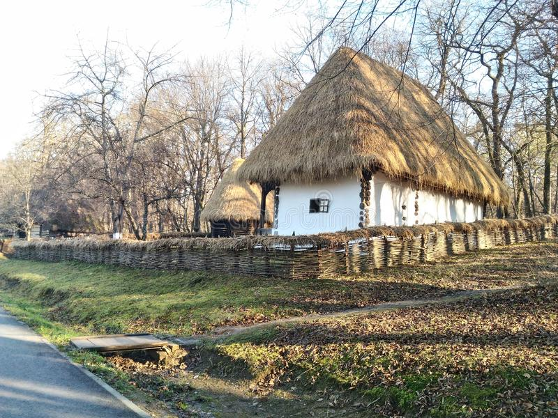 Παραδοσιακό σπίτι, Ρουμανία στοκ φωτογραφία