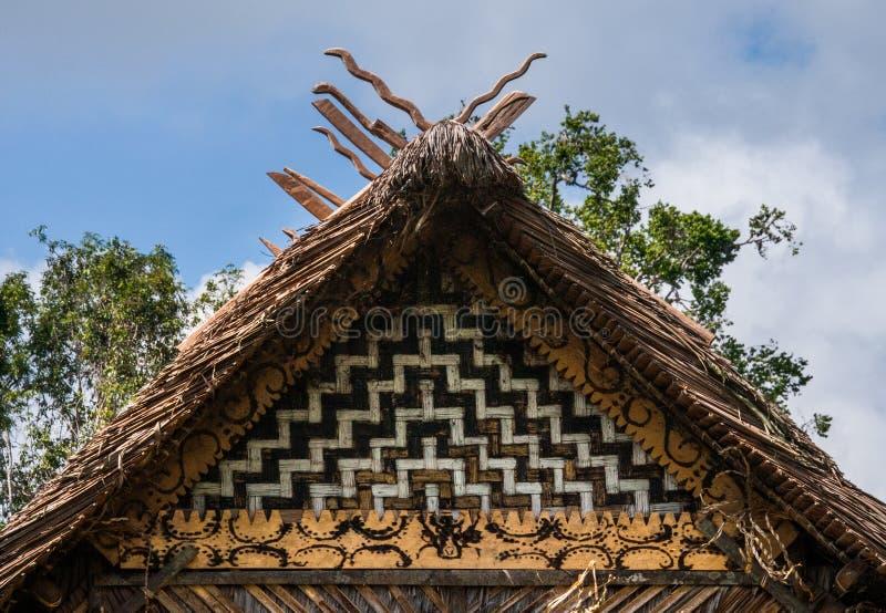 Παραδοσιακό σπίτι στη φυλή Mentawai ζουγκλών στοκ φωτογραφία με δικαίωμα ελεύθερης χρήσης